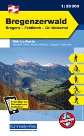 Wandelkaart Bregenzer Wald | Kümmerly & Frey | 1:35.000 | ISBN 9783259007105