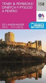 Wandelkaart Ordnance Survey | Tenby & Pembroke 158 | ISBN 9780319262566