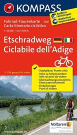 Fietskaart Etsch Radweg Landeck - Verona | Kompass 7041 | 1:50.000 | ISBN 9783850268066