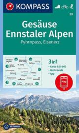 Wandelkaart Gesäuse NP | Kompass 69 | 1:50.000 | ISBN 9783990444511