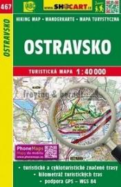 Wandelkaart Tsjechië - Ostravsko  | Shocart  467 | ISBN 9788072247455