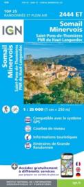 Wandelkaart Labastide-Rouairoux, Minerve, St-Pons-de-Thomieres, Monts-de-Somail | Parc du Languedoc | IGN 2444ET - IGN 2444 ET | ISBN 9782758543039