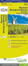 Wegenkaart - Fietskaart  Roanne - Maçon | IGN 142 | ISBN 9782758543763