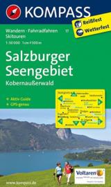 Wandelkaart Salzburger Seengebiet | Kompass 17 | 1:50.000 | ISBN 9783990440247