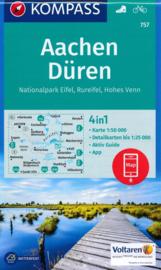 Wandelkaart Aachen und Dreiländereck | Kompass 757 | 1:50.000 | ISBN 9783990442722