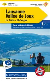 Wandelkaart Lausanne - Vallée de Joux | Kümmerly + Frey 15 | 1:60.000 | ISBN 9783259022153