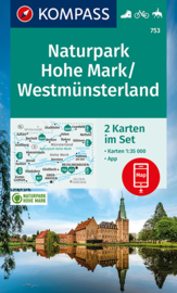 Wandelkaart Naturpark Hohe Mark   Kompass 753 - 2-delige set   1:50.000   ISBN 9783991210788