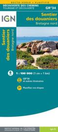 Wandelkaart Bretagne Nord - Le sentier des douaniers GR34 | 1:100.000 | ISBN 9782758551270