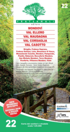 Wandelkaart Mondovì, Val Ellero, Val Maudagna, Val Corsaglia, Val Casotto | Fraternali editore 22 | 1:25.000 | ISBN 9788897465287