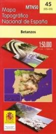 Wandelkaart - Topografische kaart Betanzos | 1:50.000 | CNIG 45 | ISBN 8423434004505