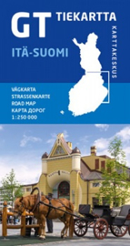 Fiets- Wegenkaart Itä-Suomi GT 2 - Oost Finland | Karttakeskus | 1:250.000 | ISBN 978952266521