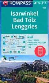 Wandelkaart Isarwinkel- Bad tolz - Lenggries | Kompass 182 | 1:50.000 | ISBN 9783990447314