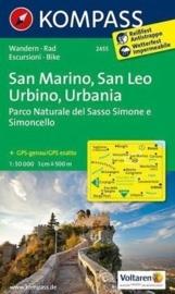 Wandelkaart San Marino - San Leo Urbino - Urbania | Kompass 2455 | ISBN 9783850268608