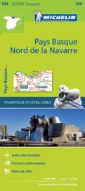 Fietskaart - wegenkaart  Spaanse Pyreneeën West - Pyrénées Occidentales| Michelin 144  | 1;150.000 | ISBN 9782067218109