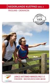Wandelgids Nederlands Kustpad deel 3 - Kustlijn Friesland / Groningen | LAW 5-3 - NIVON | ISBN 9789071068881
