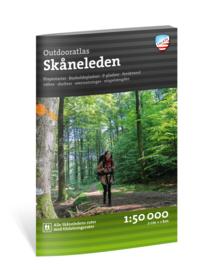 Wandelatlas Skaneleden | Calazo Outdoormaps Serie - Calazo Förlag Dänemark  | 1:50.000 (Deenstalig) | ISBN 9789188779823 -