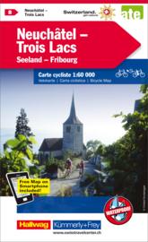 Fietskaart Neuchâtel / Trois Lacs | Kümmerly+Frey nr. 08 | 1:60.000 | ISBN 9783259024089