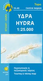 Wandelkaart Hydra | Anavasi 10.40 | 1:25.000 | ISBN 9789608195721