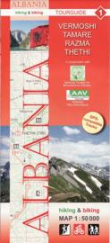 Wandelkaart Vermoshi - Tamare - Razma – Thethi | Huber Verlag 01 | 1:50.000 | ISBN 9783943752083