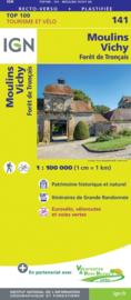 Wegenkaart - Fietskaart Moulins - Vichy | Auvergne / Allier | IGN 141 | ISBN 9782758547617