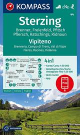 Wandelkaart Sterzing -Vipiteno | Kompass 44 | 1:50.000 - ISBN 9783990446270