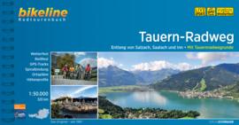 Fietsgids Tauern Radweg - 320 km   Bikeline   Van de Krimmler watervallen naar Passau   ISBN 9783850000598