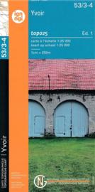 Topografische kaart Belgie NGI 53 / 3-4  Yvoir | 1:25.000 - ISBN 9789462351462