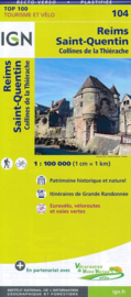 Wegenkaart - Fietskaart Reims - St. Quentin | IGN 104 | ISBN 9782758540762