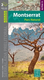 Wandelkaart Montserrat | Editorial Alpina | Gebied ten westen van Barcelona No. 6 | 1:25.000 | ISBN 9788480905794