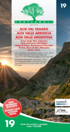 Wandelkaart Alta Val Tanaro, Alta Valle Arroscia, Alta Valle Argentina | Fraternali editore 19 | 1:25.000 | ISBN 9788897465270