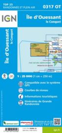 Wandelkaart 0317OT - 0317 OT Île d`Ouessant, Pointe St-Mathieu | Bretagne