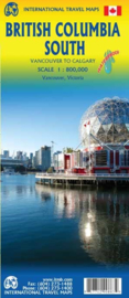 Wegenkaart British Columbia South : van Vancouver tot Calgary   1: 900.000   ITMB   ISBN 9781771290883