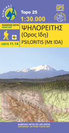 Wandelkaart Psiloritis/Mount Idha - Kreta | Anavasi 11.14 | 1:25.000 | ISBN 9789608195905