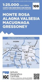 Wandelkaart Monte Rosa -Alagna - Macugnaga | IGC nr. 109 | 1:25.000 | ISBN 9788896455654