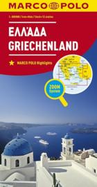 Wegenkaart  Griekenland | Marco Polo | 1:800.000 | ISBN 9783829738293