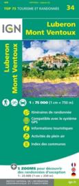 Wandelkaart - Fietskaart Luberon / Mont-Ventoux  | IGN nr. 34 | 1:75.000 | ISBN 9782758549765