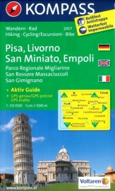 Wandelkaart Pisa, Livorno, San Miniato, Empoli - Toscane | Kompass 2457 | 1:50.000 | ISBN 9783850266017