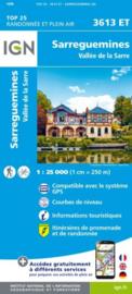 Wandelkaart Sarreguemines, Valle de la Sarre | Vogezen | IGN 3613 ET - IGN 3613ET | ISBN 9782758550310