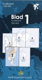 Topografische kaart Spitsbergen ZW  Blad 1 | Norsk Polarinstitutt | 1:250.000 | ISBN 7046660088753