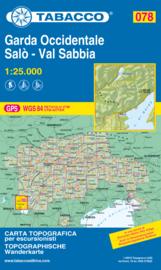 WandelkaartGarda Occindentale / Salò Val Sabbia | Tabacco 78 | 1:25.000 | ISBN 9788883151330