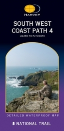 Wandelkaart The South West coast path 4 | Harvey | 1:40.000 | ISBN 9781851374373