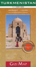 Wegenkaart Turkmenistan | Gizi Map | 1:1,3 miljoen | ISBN 9786155010132