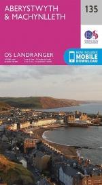 Wandelkaart Ordnance Survey | Aberystwyth & Machynlleth 135 | ISBN 9780319262337