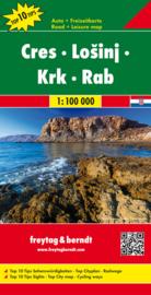 Wegenkaart Dalmatische Kust - Cres en Losinj en Krk en Rab   Freytag & Berndt 5   1:100.000   ISBN 9783707916485