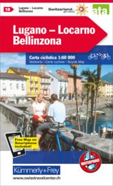 Fietskaart Lugano / Locarno | Kümmerly+Frey nr. 18 | 1:60.000 | ISBN 9783259024188