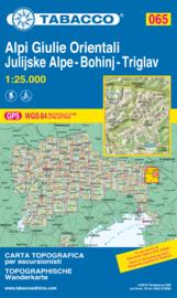 Wandelkaart Alpi Giulie Orientali - Julijske Alpe - Bohinj - Triglav | Tabacco 65 | 1:25.000 | ISBN 9788883151118