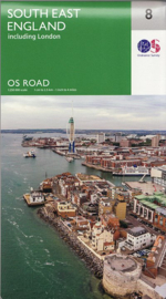 Wegenkaart Zuidoost Engeland | Ordnance Survey road map 8 | 1:250.000 | ISBN 9780319263808