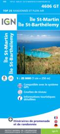 Wandelkaart Sint-Maarten - Ile St-Martin / Ile St-Barthélemy (Guadeloupe) | 1:25.000 | IGN 4606GT | ISBN 9782758533467