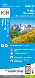 Wandelkaart Meije, Pelvoux | NP Ecrins | IGN 3436 ET - IGN 3436ET | ISBN 9782758545606