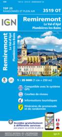 Wandelkaart Remiremont – Plombières-les-Bains – PNR Ballons des Vosges | Vogezen |  IGN 3519 OT - IGN 3519OT  | ISBN 9782758550259